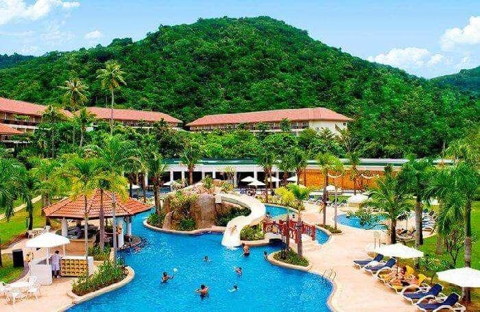 The scenic backdrop and kickass pool of Centara Karon Resort Phuket