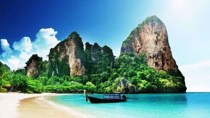 Railay is one of the most popular and is amongst the best and most beautiful beaches in Thailand