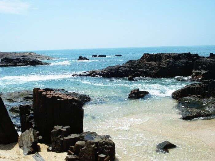 The unique volcanic rocks of St. Mary's Island in Karnataka