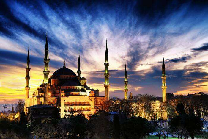 Sultan Ahmed Mosque at Turkey in the morning
