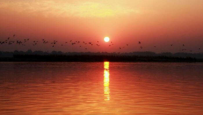 The sublime sunrise in Varanasi