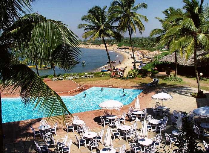 View of Aguada beach from Taj resort