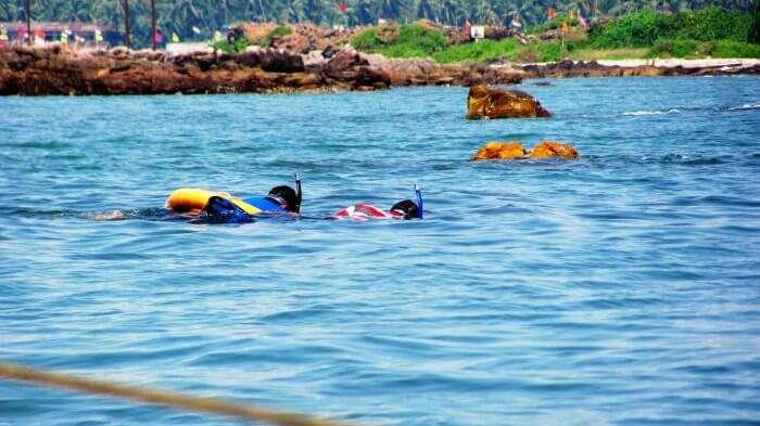 Snorkeling in Tarkarli beach