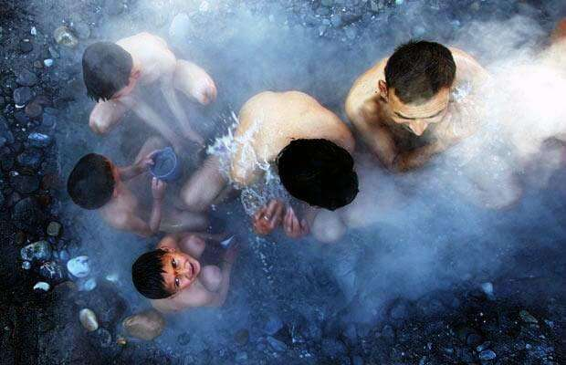 Hot water spring at Tattapani in Shimla