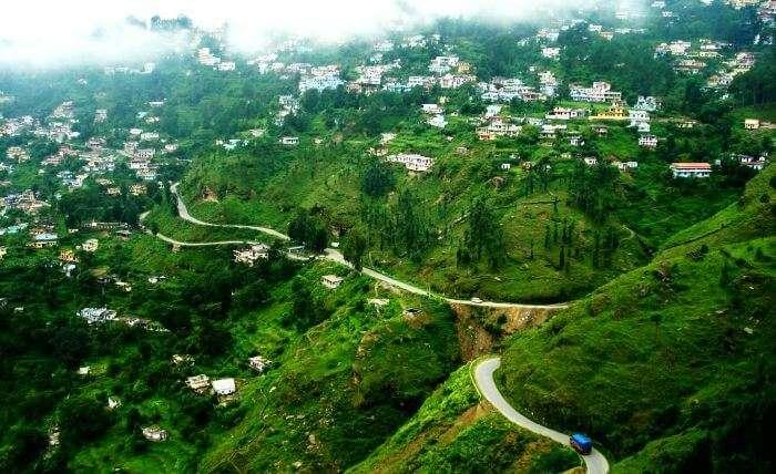 The beautiful village of Binsar in Almora District