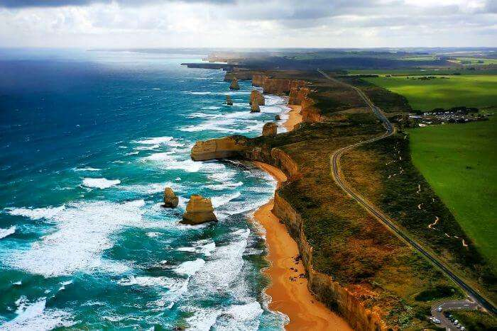 The breathtaking stretch of The Great Ocean Road in Australia