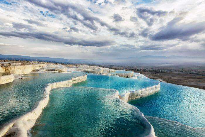 The hot water springs Pamukkale