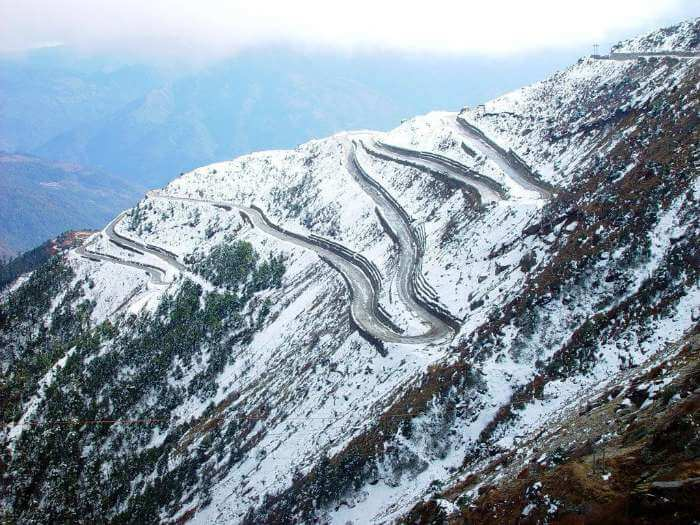 The treacherous trail of the highway from Guwahati to Tawang