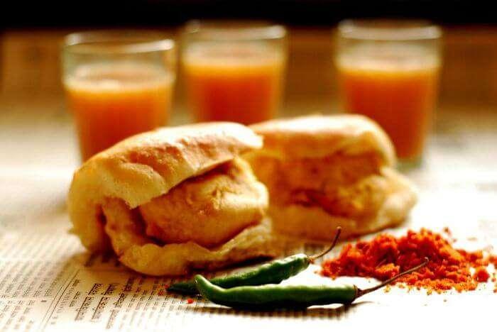 Vada pav and cutting chai - Mumbai's staple breakfast