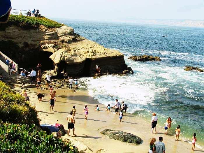 Tourists indulging in water activities in Grand Island