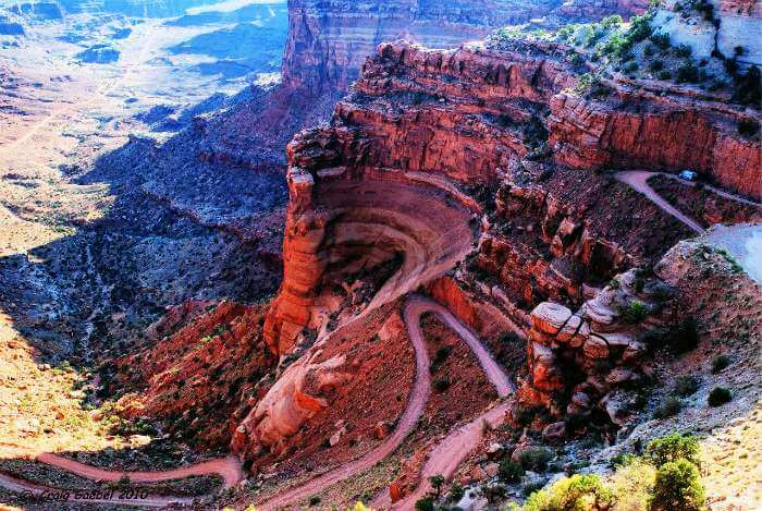 White Rim Road in the Canyonlands National Park, Utah