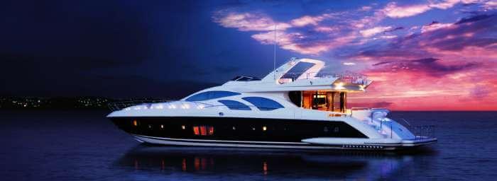 Yacht off the coasts of Goa