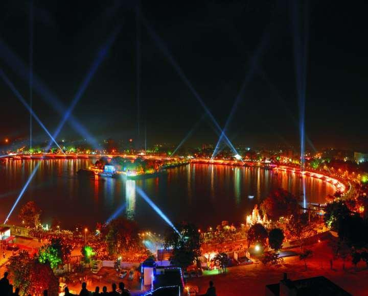 kankarialake lake, the marina drive way in Ahmedabad
