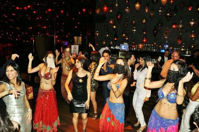 belly dancers partying in Turkey