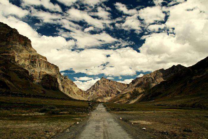 Snow cleared stable roads through Spiti Valley