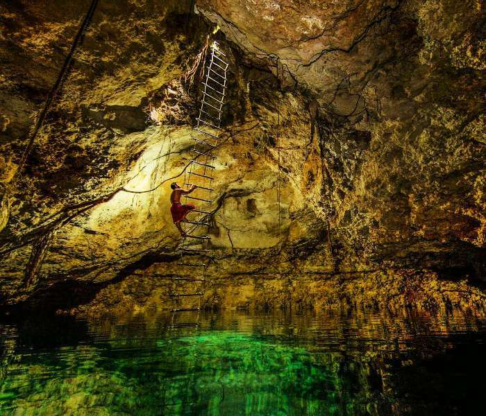 A swimming hole in Yucatan of Mexico