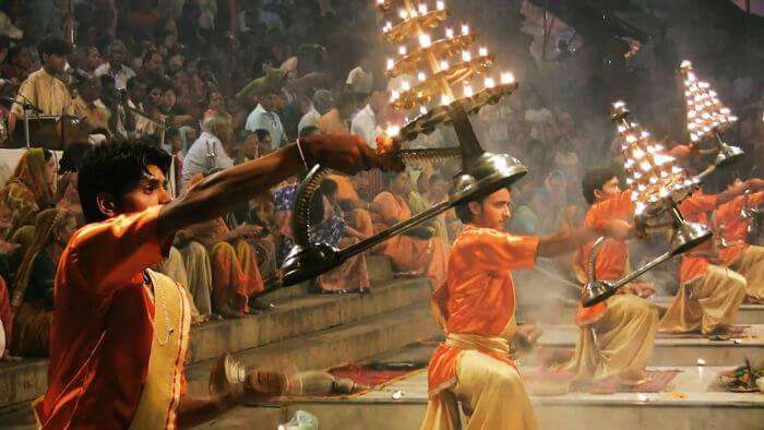 Aarti at the ghats in Varanasi - the city of temples.