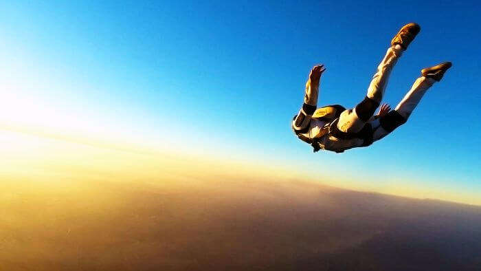 Accelerated Free Fall in the sky