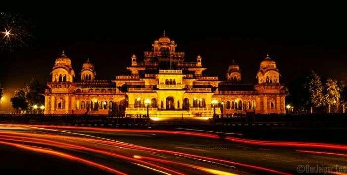The glittering Albert Hall on a Diwali Night in Jaipur