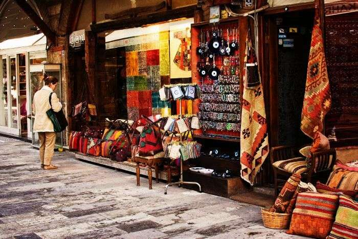 Arasta Bazaar in Sultanahmet where you can shop for items of cultural interest