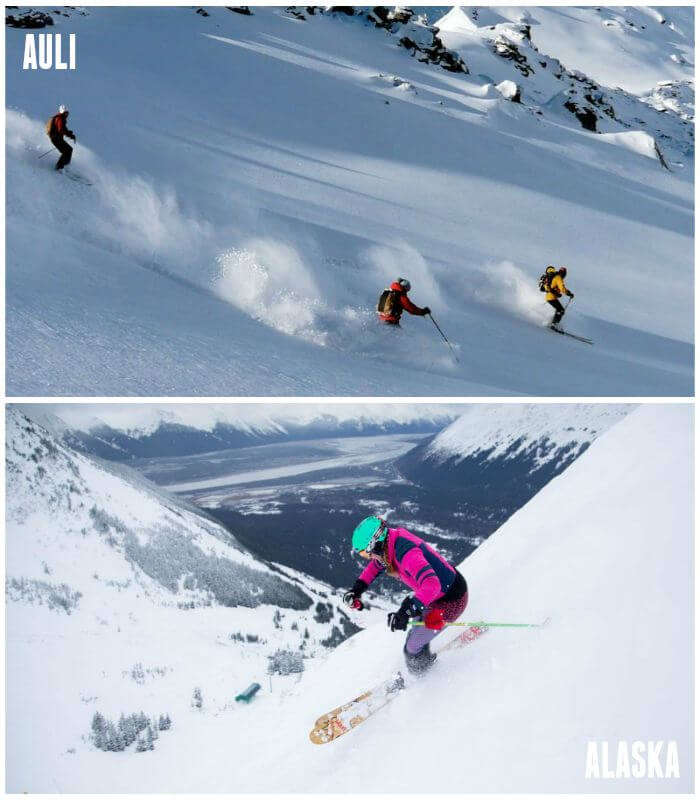 Sking at auli and alaska