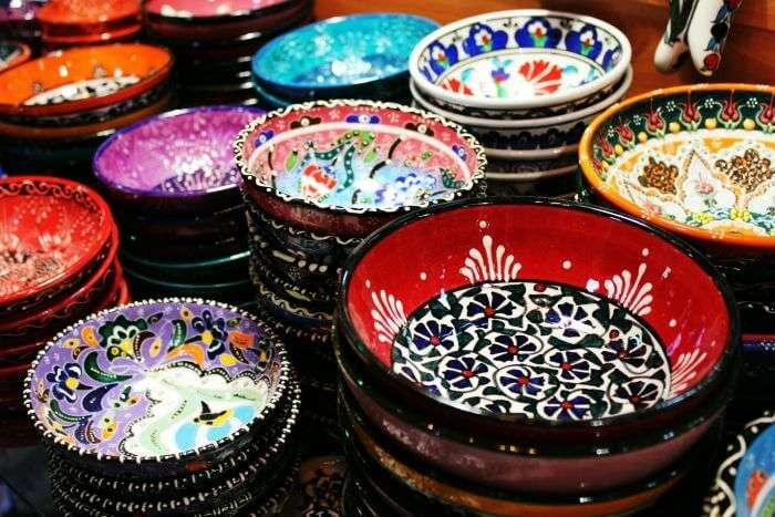 Beautiful and colorful Iznik ceramics specially made Istanbul