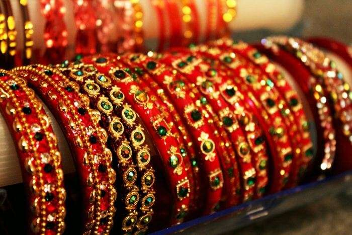 Beautiful lac bangles at the best shopping place in Jaipur-Tripolia Bazaar