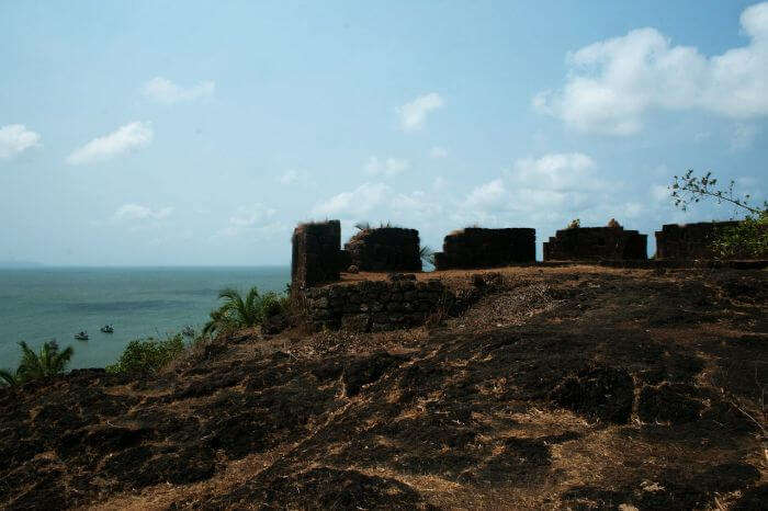 The splendid view from the Cabo de rama fort
