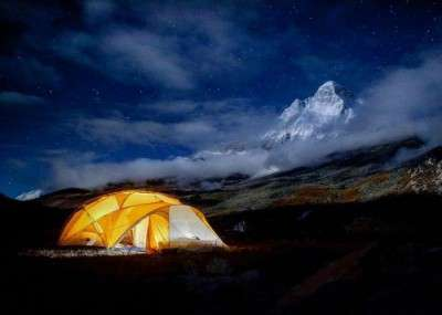 Camping in Garhwal Himalayas