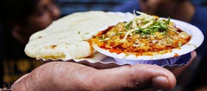 The best food in Delhi to binge on is Chole Kulche