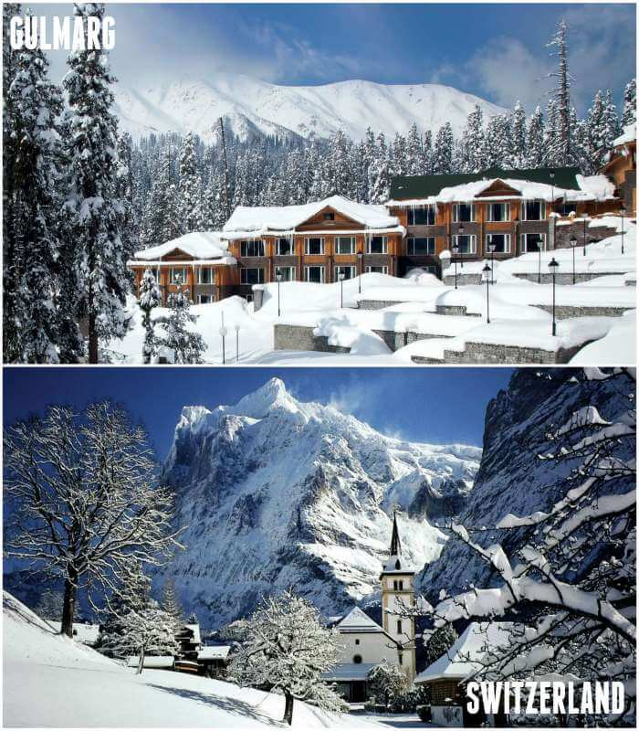 look alike gulmarg and switzerland
