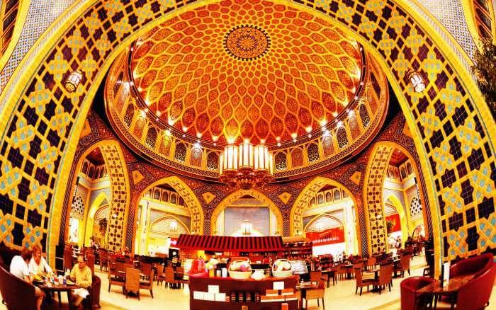 A restaurant in Ibn Battuta Mall in Dubai
