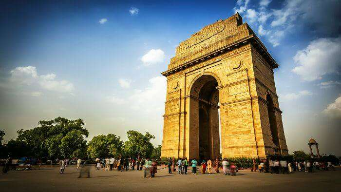 The majestic India Gate in the capital city of India - Delhi