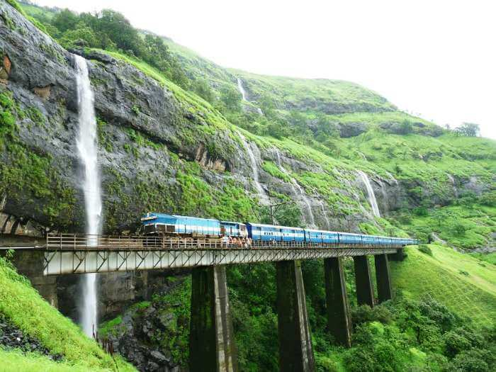 Konkan Railway route include the picturesque journey from Mumbai to Goa