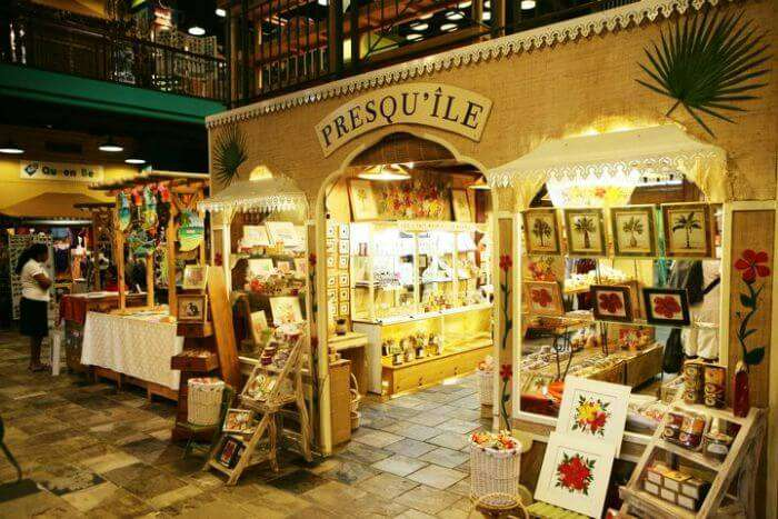 Presque'ile at Le Craft Market in Caudan Waterfront