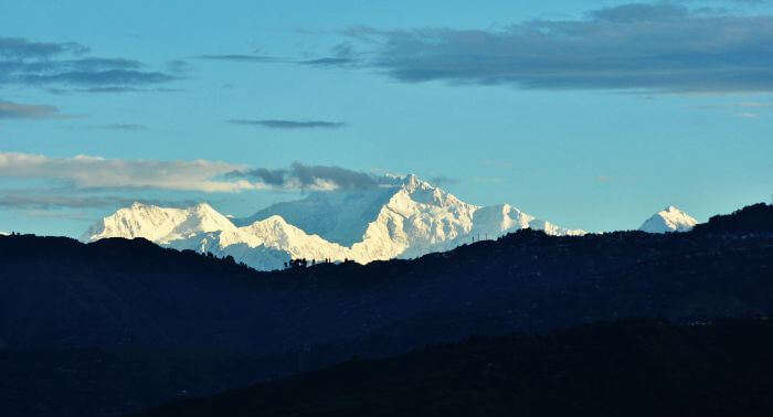 A gorgeous view of the Kanchenjunga peak