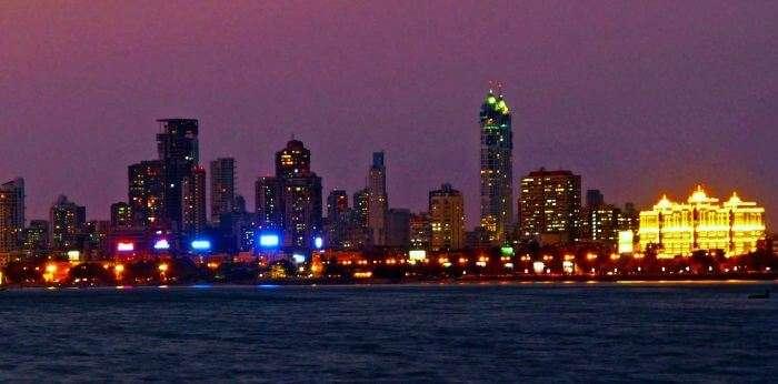 Skyline of the city of dream at Night - Mumbai