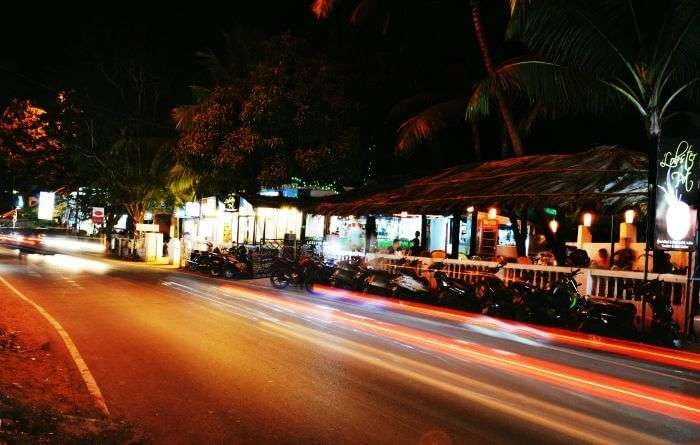 Night rides the roads of Goa