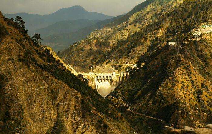 A distant view of the Patnitop in Udampur