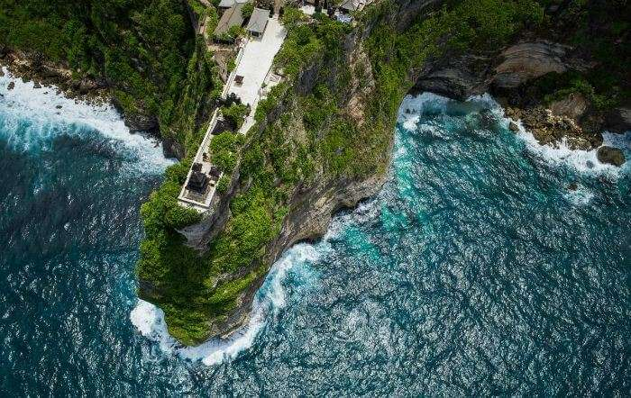 A bird's eye view of Pura Luhur Uluwatu