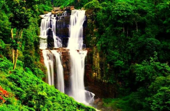 Ramboda Falls is the 11th highest waterfall in Sri Lanka