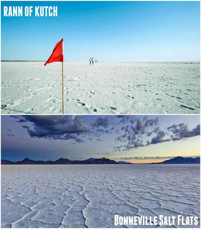 rann of kutch and Bonneville Salt Flats in America