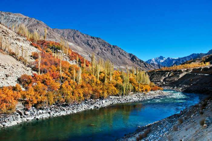 The river Dras in the Kargil region of Kashmir