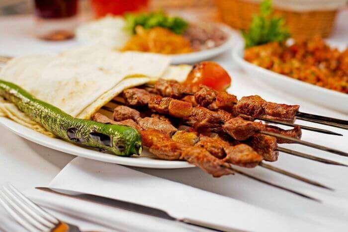 Turkish seek kebabs