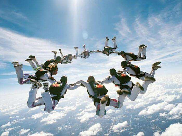Sky diving in Dhana - Madhya Pradesh