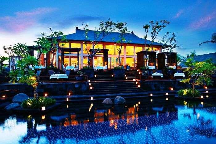 A surreal view of St Regis Bali in Nusa Dua