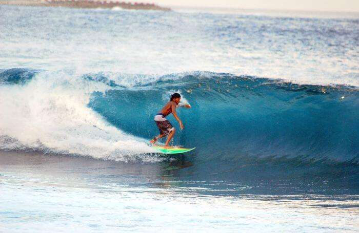 If you arent scared of the speeding waves, try your hands at surfing in Bali