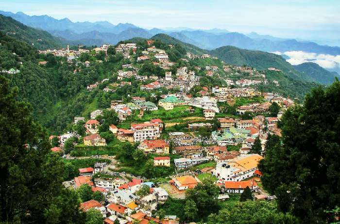 Picturesque views of the the hill city of Mussoorie