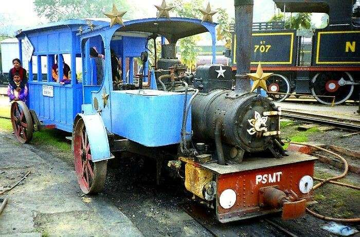 Train at Rail Museum in Delhi – One of the biggest museums in India