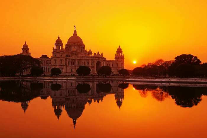 The picturesque Victoria Memorial in Kolkata - the beautiful city of India
